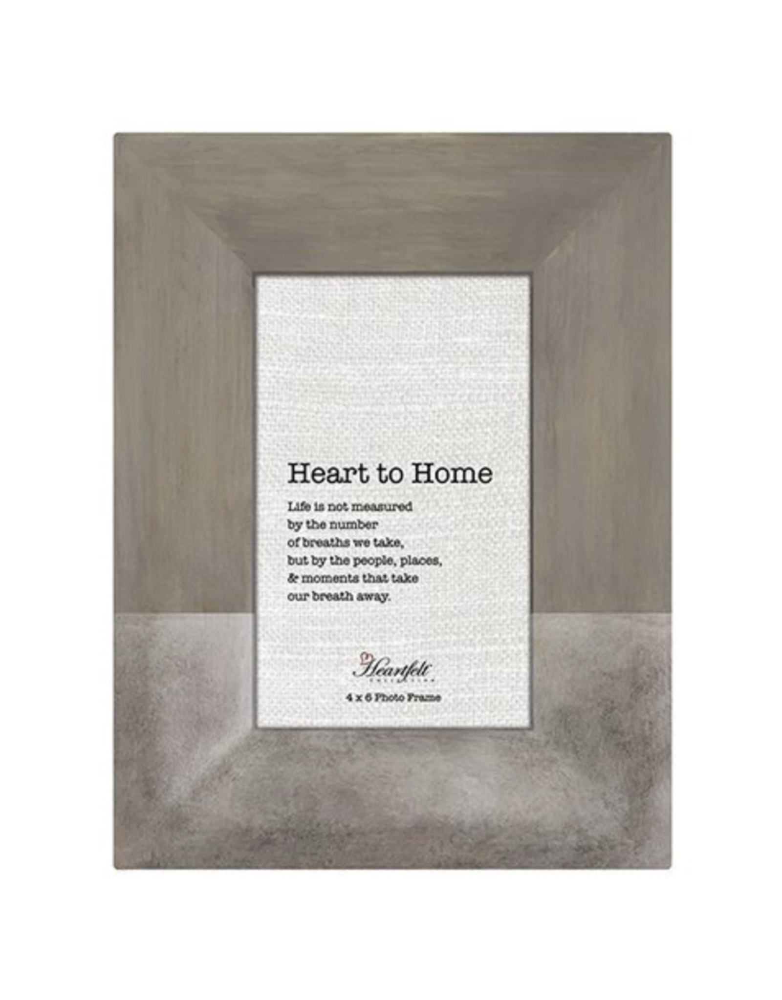 Heartfelt CB Gift Grey & Silver Ceramic Frame 4 x 6