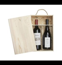 IWA Double Sided Pine Wood Wine Box