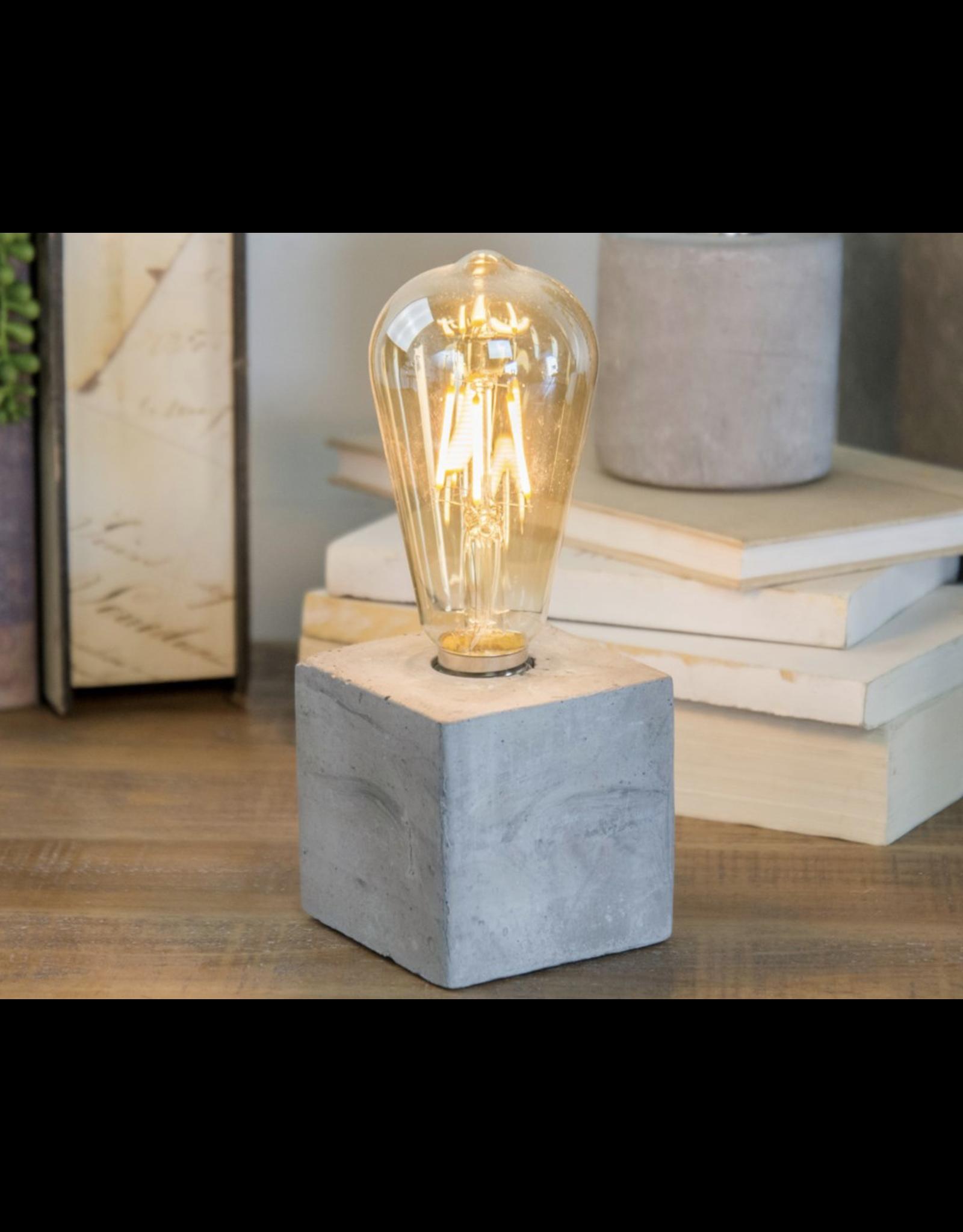 VIP Home & Garden Edison Light with Cement Base