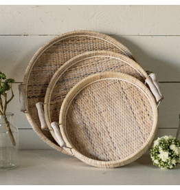 VIP Home & Garden Wicker Tray Large