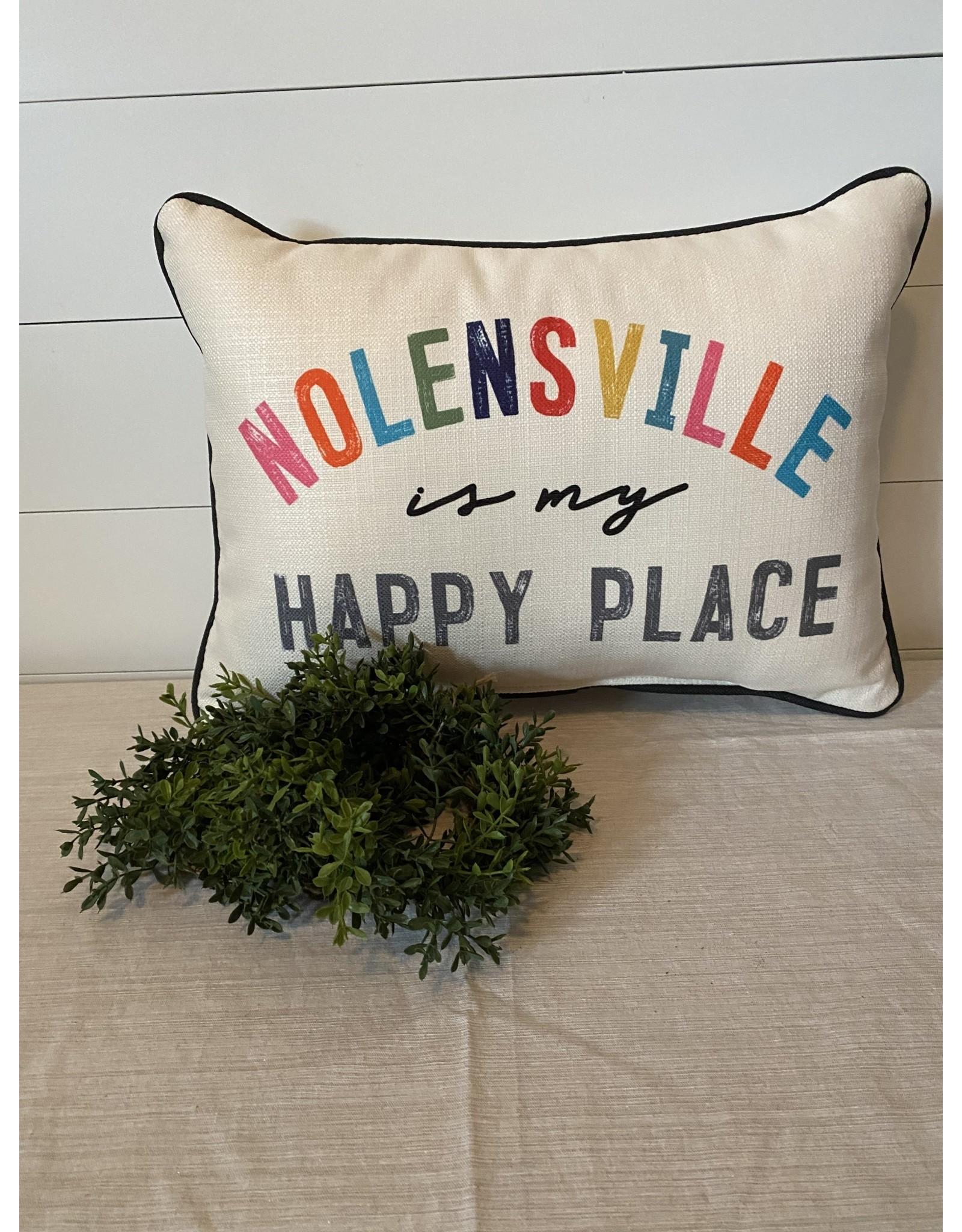 Little Birdie Nolensville is My Happy Place Pillow