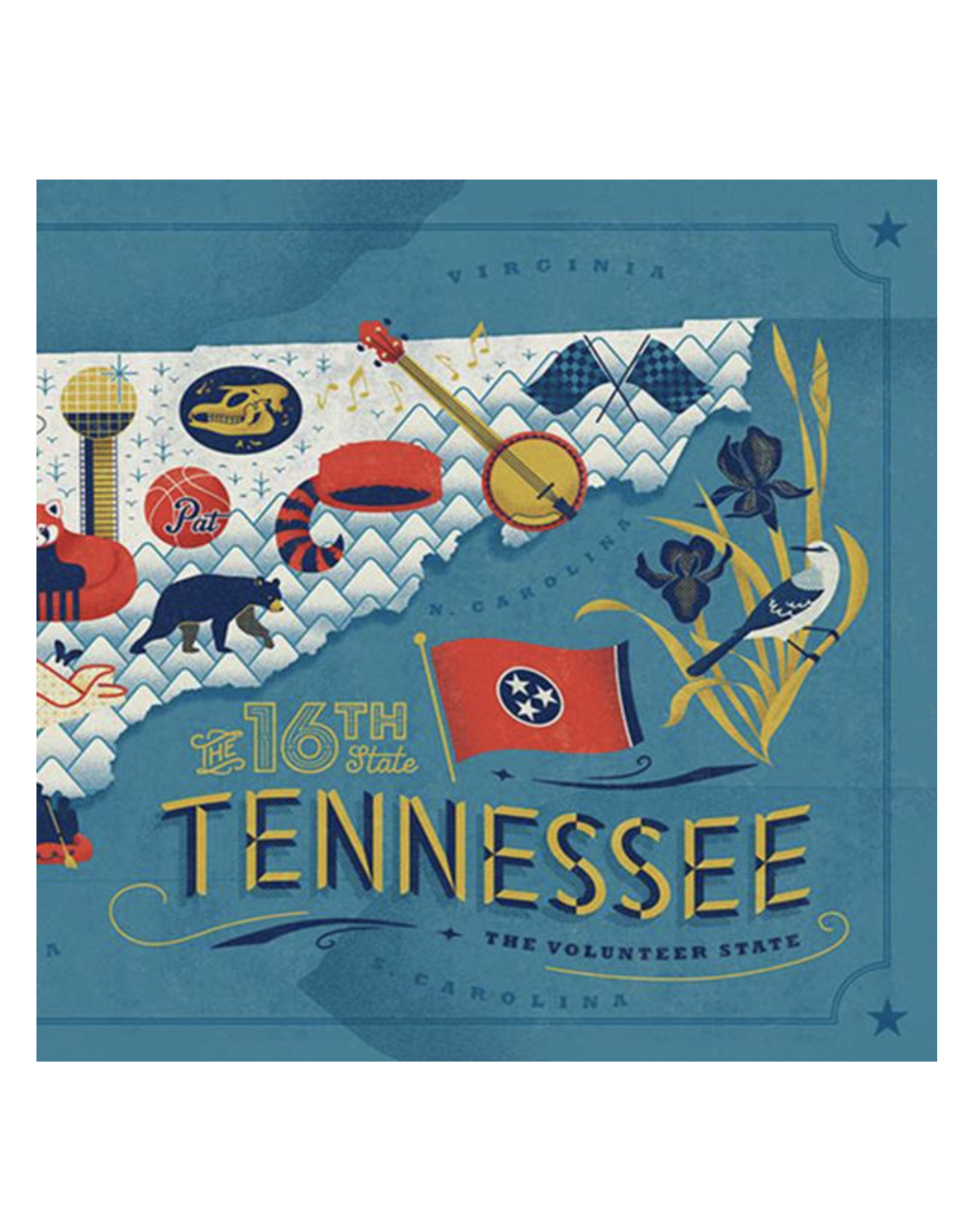True South Tennessee Map Puzzle