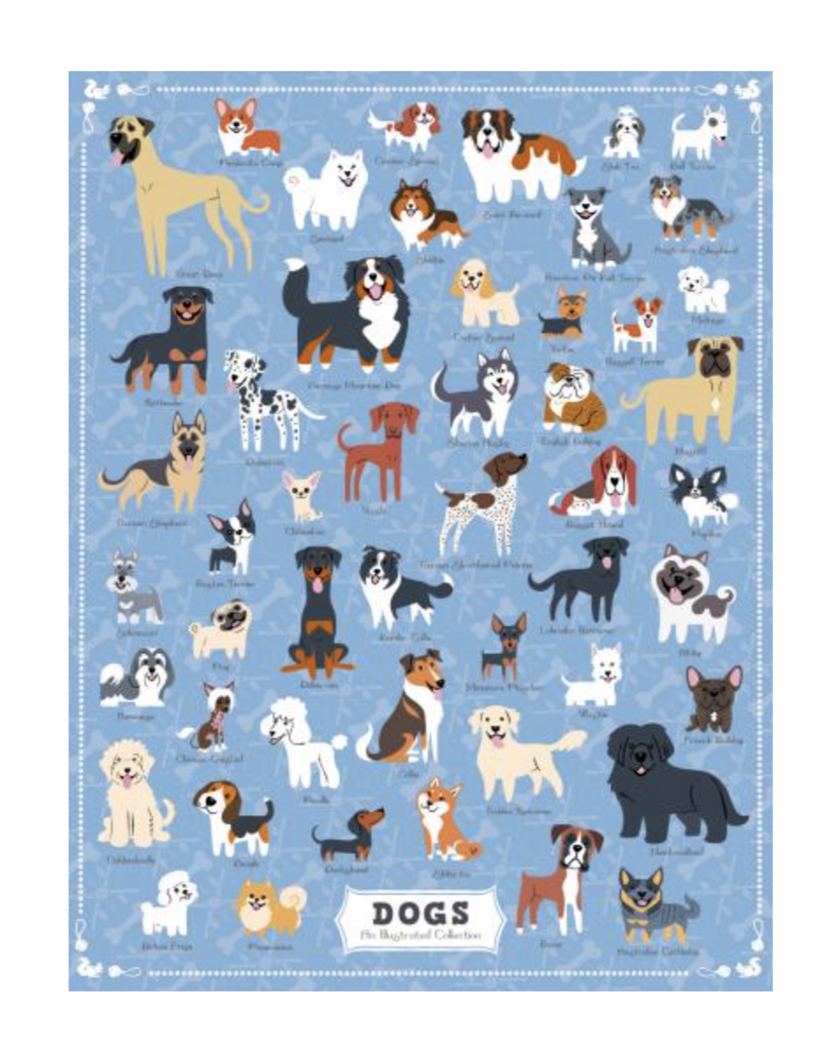 True South Illustrated Dogs Puzzle