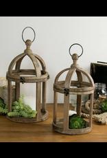 VIP Home & Garden Distressed Oval Lantern Small
