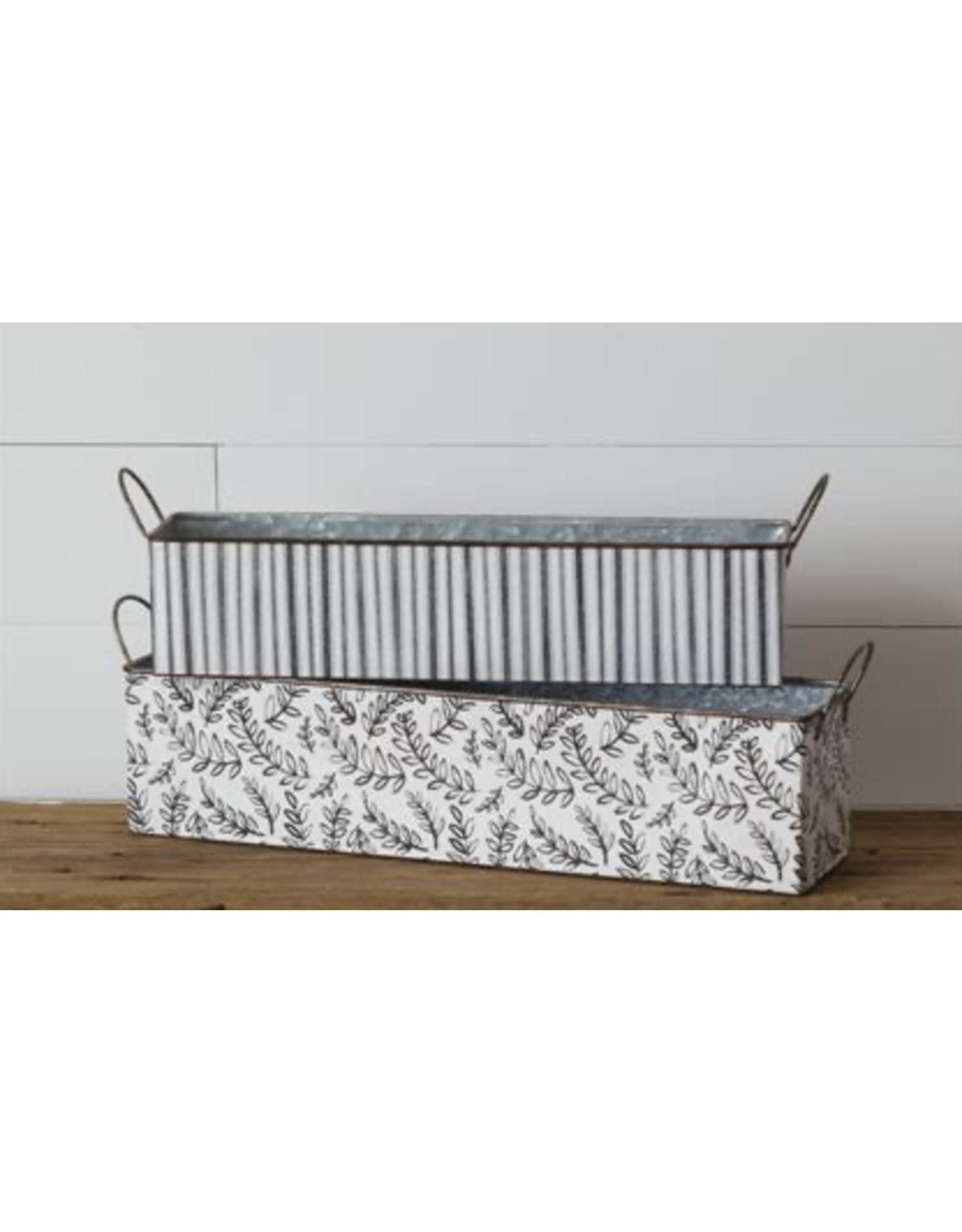 Audrey's Striped Rectangle Nested Tin
