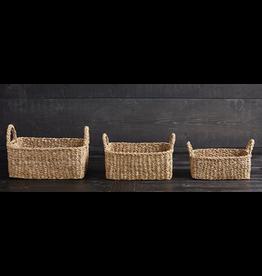 Creative Brands Mini Rectangle Seagrass Basket Large