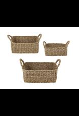 Creative Brands Mini Rectangle Seagrass Basket Medium