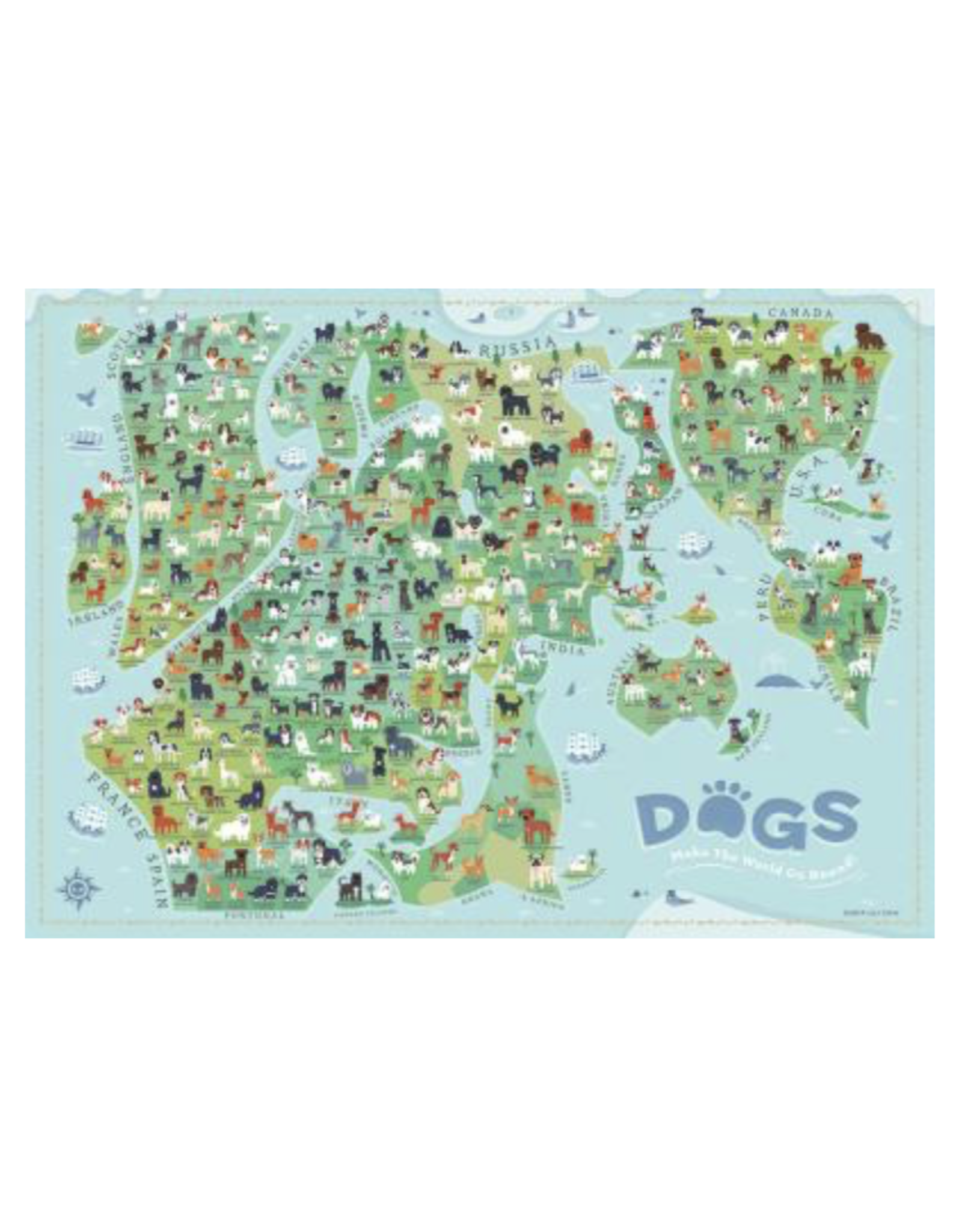 True South Dogs Make The World Go Round Puzzle