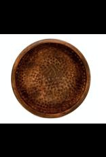 """Heritage Lace Hammered 8"""" Mango Wood Bowl"""