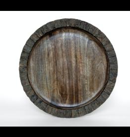 """Heritage Lace Mango Bark Round Tray 15"""""""