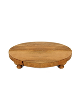 """Heritage Lace Farmhouse Footed Round Serving Board 16"""""""