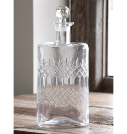 Park Hill Etched Glass Decanter