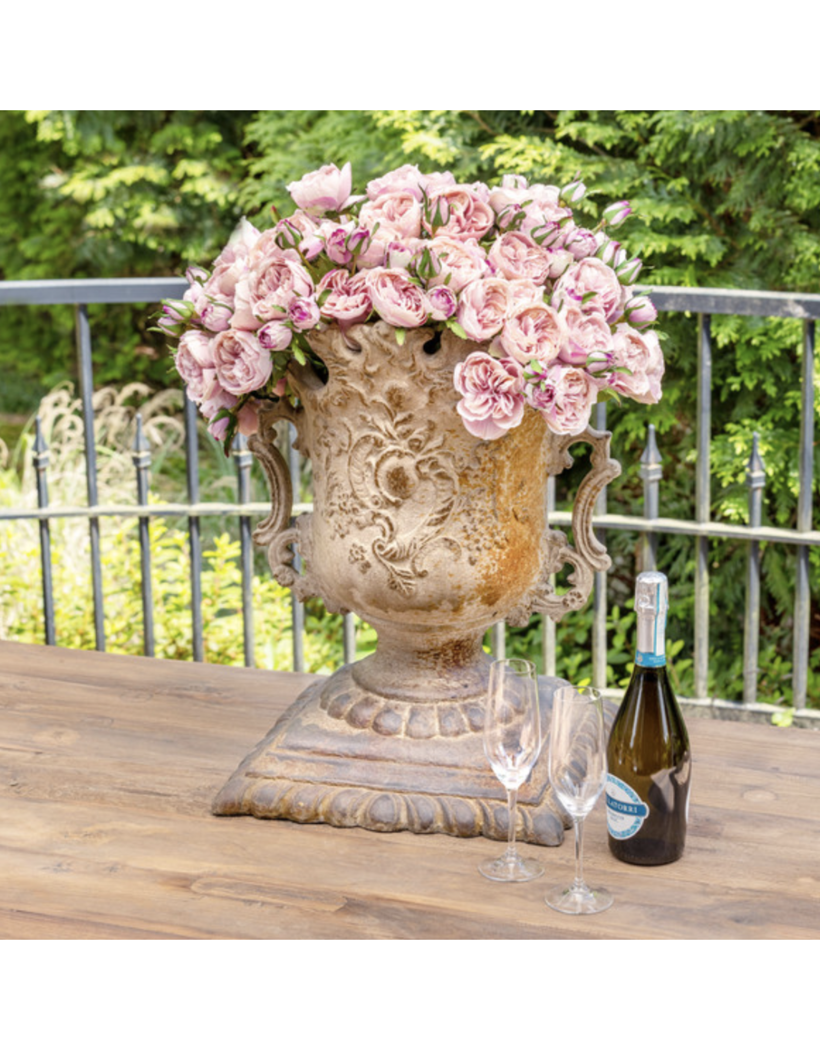Park Hill Antique Garden Rose Bundle Maroon Blush