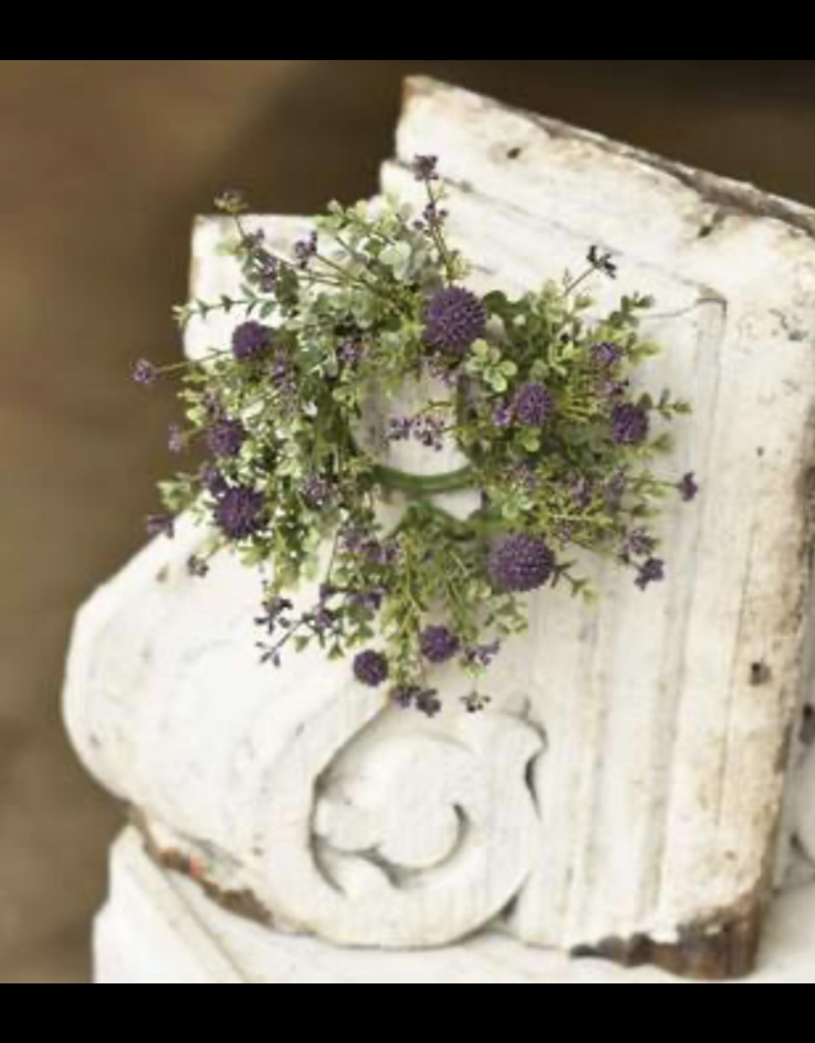 "Lancaster & Vintage Garden Bliss Candle Ring 3"""