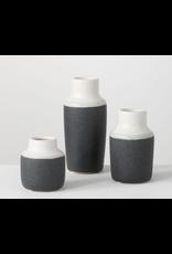 Sullivans Sanded Charcoal Vase Large