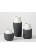 Sullivans Sanded Charcoal Vase Medium