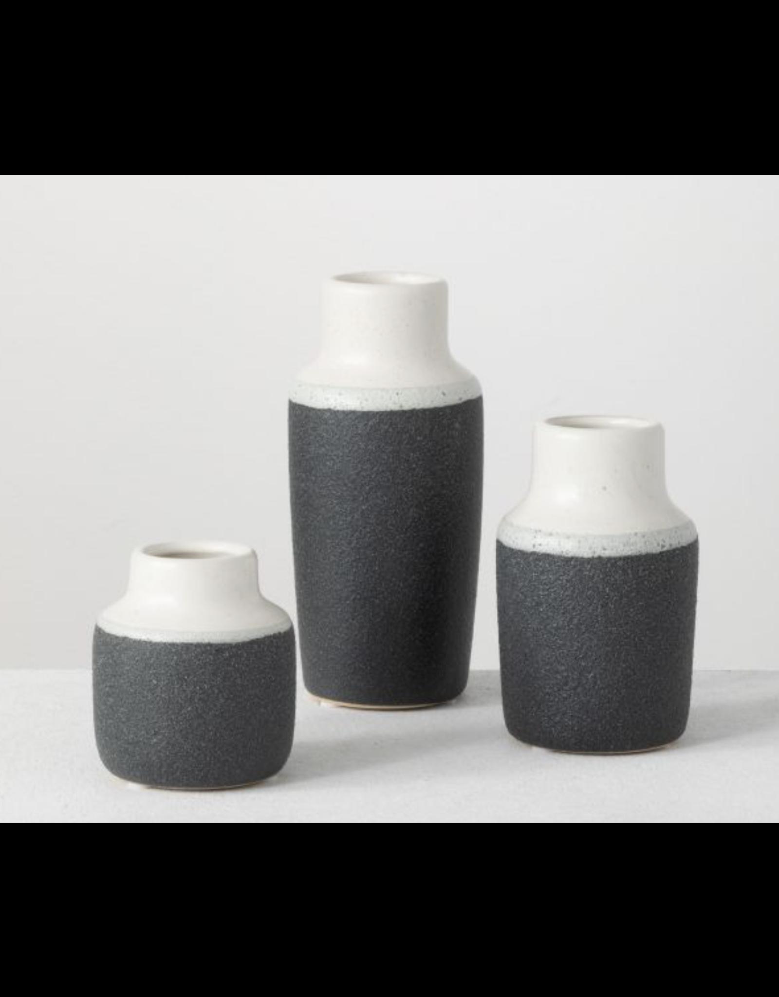 Sullivans Sanded Charcoal Vase Small