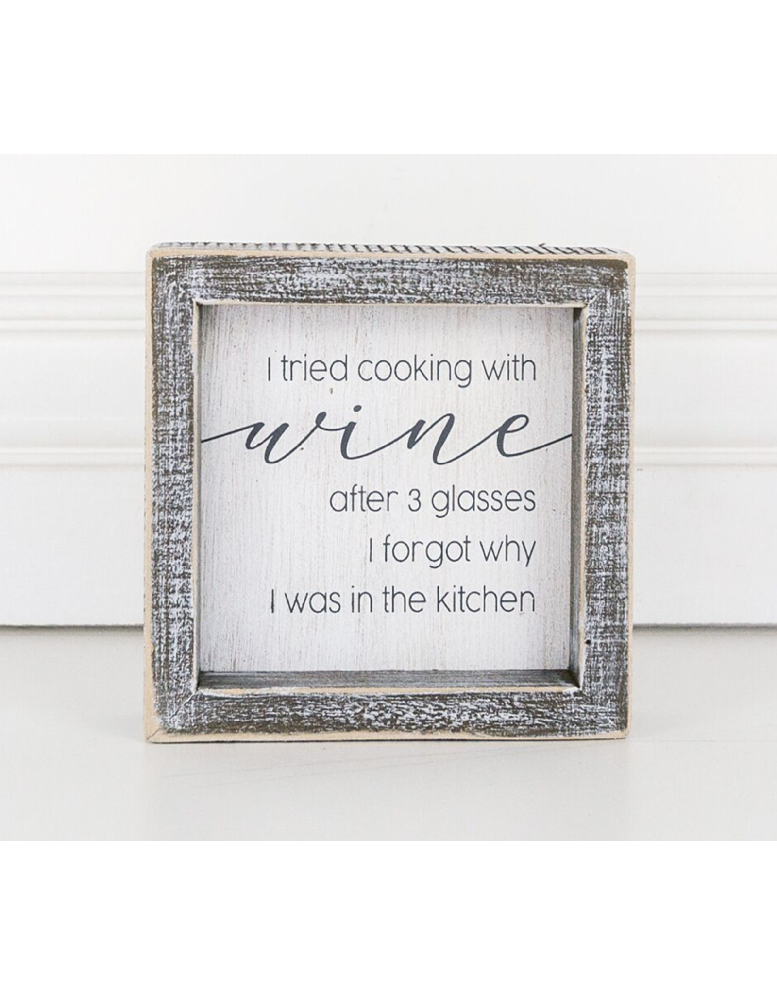 """Adams & Co. Wood Sign """"Cooking with Wine"""""""