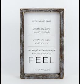 """Adams & Co. Wood Sign """"Feel"""""""