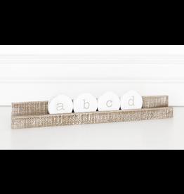 "Adams & Co. 12"" Letter Tile Ledgie Natural"
