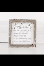 """Adams & Co. """"Husbands"""" Wood Sign"""