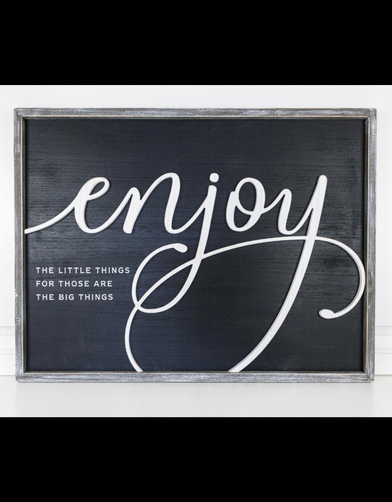 "Adams & Co. ""Enjoy"" Wood Sign"