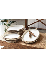 Lancaster & Vintage Oval Beaded Tray Medium