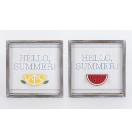"""Adams & Co. Wood Sign """"Hello Summer"""""""