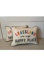 Little Birdie Grassland Is My Happy Place Pillow