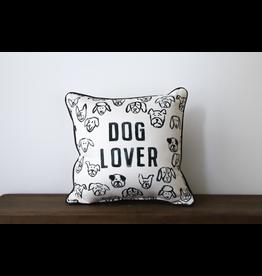 Little Birdie Black & White Dog Lover Pillow