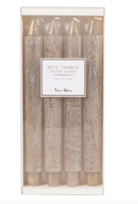 """Sullivans """"Ritz"""" Timber Taper Candle, Set of 4"""