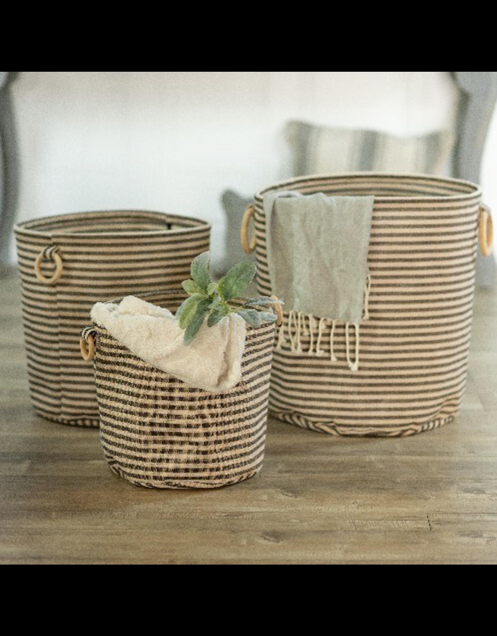 VIP Home & Garden Large Canvas Storage Basket