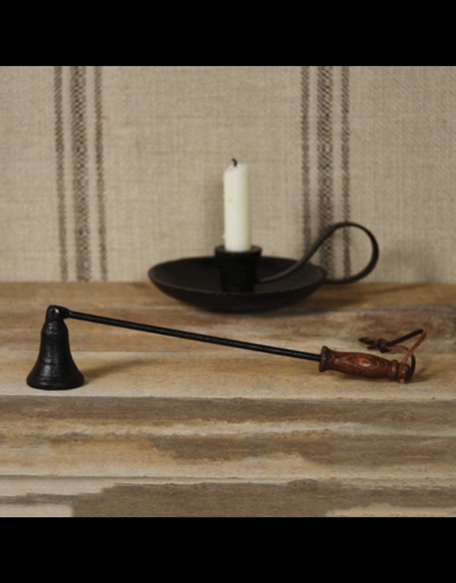 HomArt Black Iron & Wood Candle Snuffer