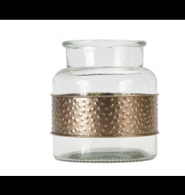 Melrose Jar with Metal Wrap