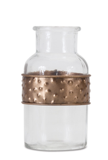 Melrose Short Bottle with Metal Wrap