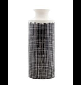 Melrose Terra Cotta Black & White Vase