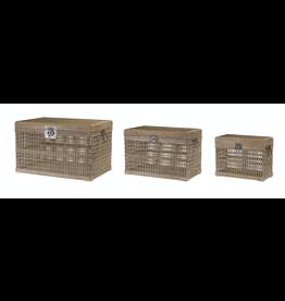 Melrose Bamboo & Wood Crate Large