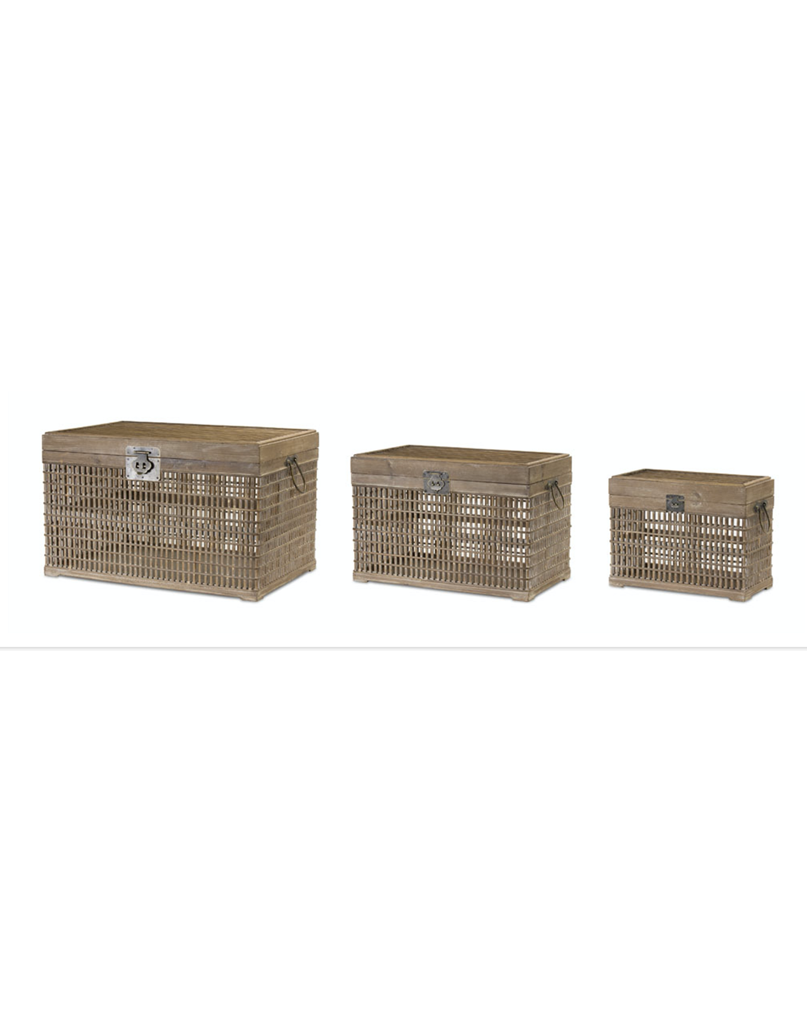 Melrose Bamboo & Wood Crate Small