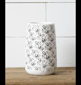 Audrey's Black & White Flower Vase