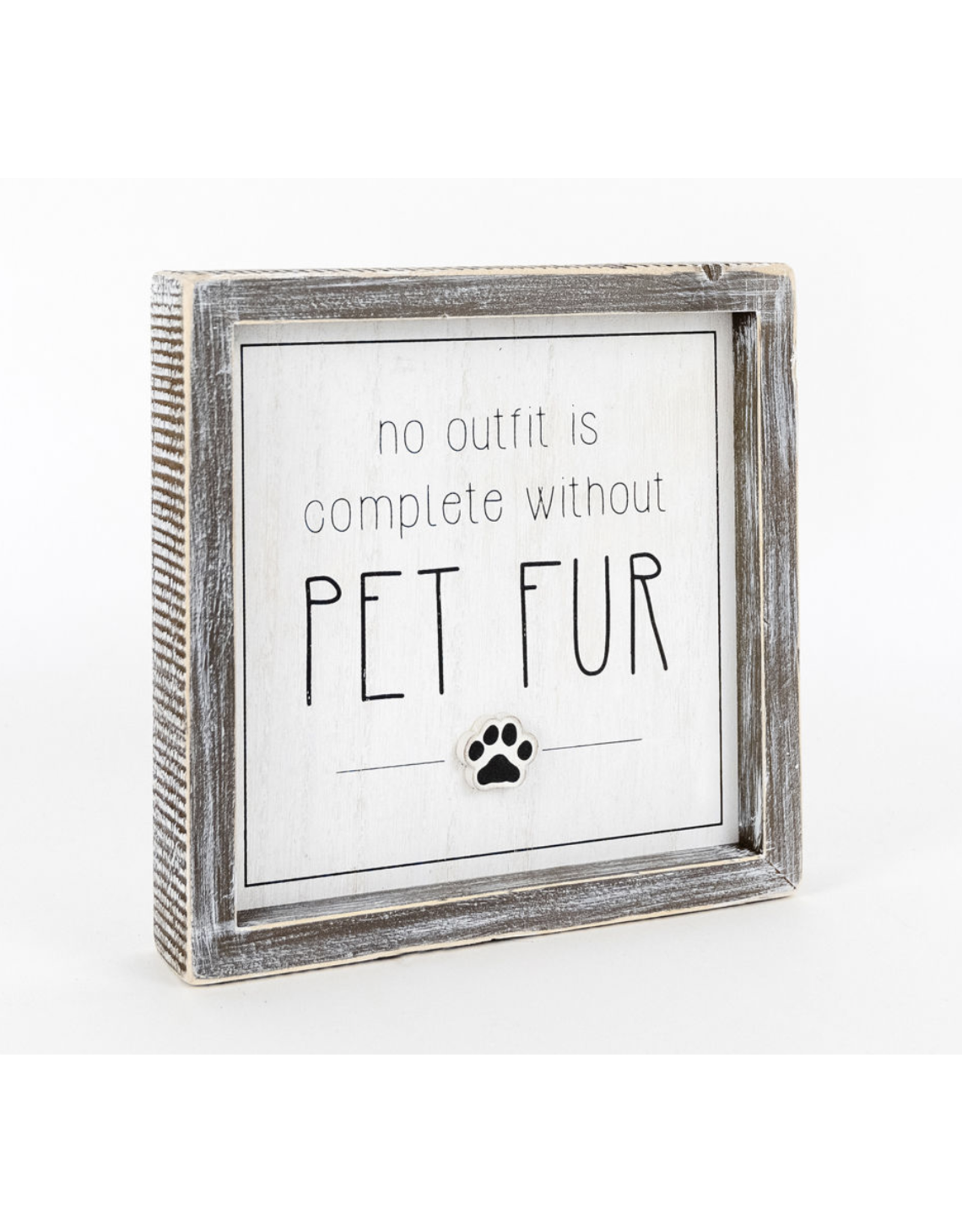 Adams & Co. Pet Fur Decor Sign