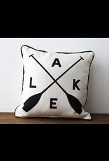 Little Birdie Lake With Oars Pillow
