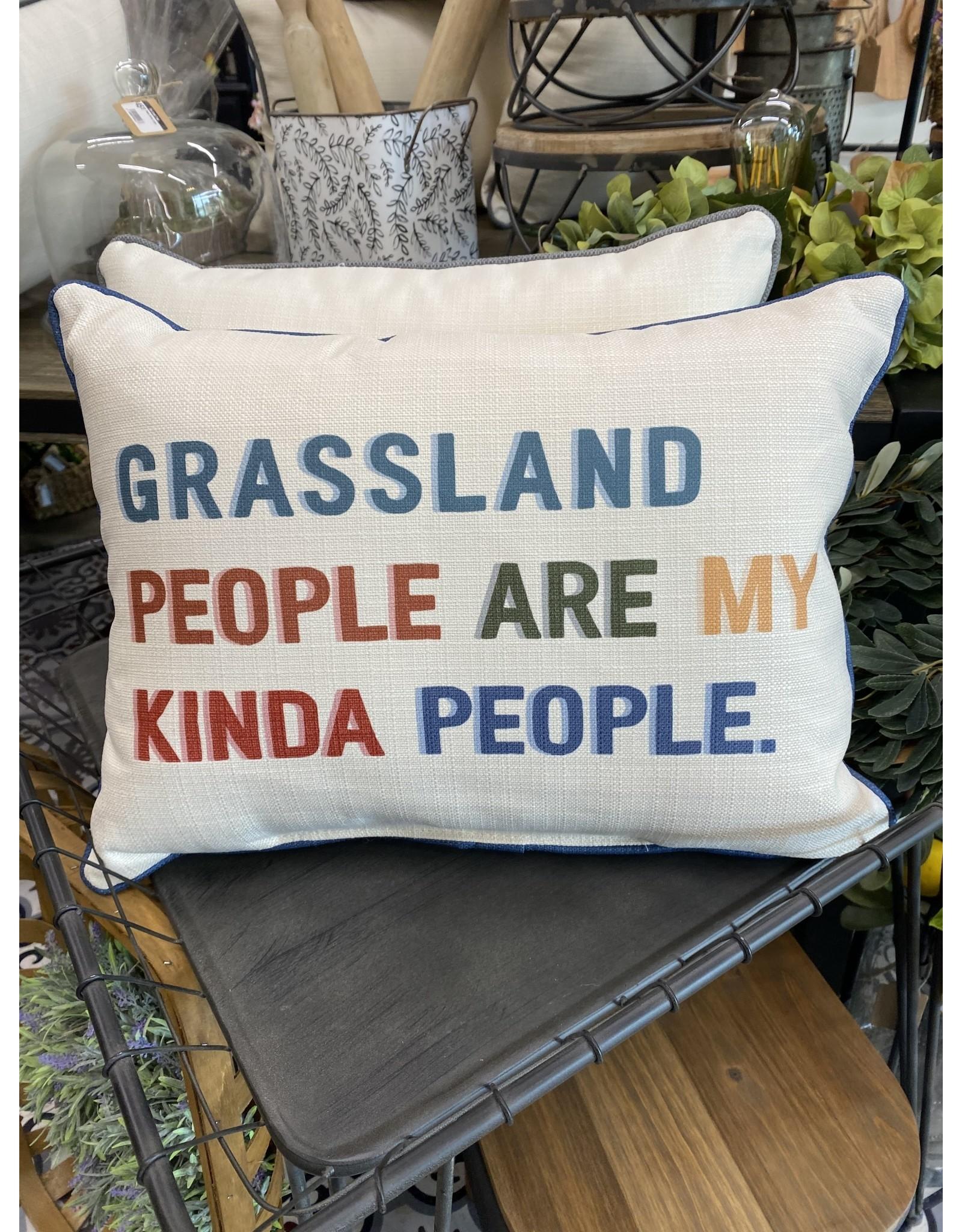 Little Birdie Grassland My Kind of People Pillow