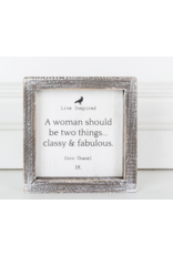 Adams & Co. Coco Chanel Quote Wood Sign