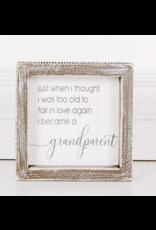"Adams & Co. Wood Sign ""Grandparent"""