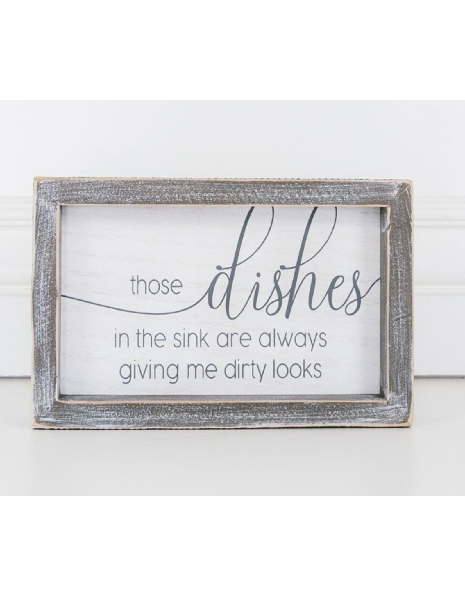 """Adams & Co. Wood Sign """"Dirty Dishes"""""""