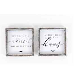 """Adams & Co. Wood Sign """"Here for the Boo's"""" Coasters"""