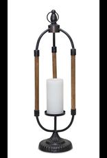 Melrose Iron & Wood Candle Holder