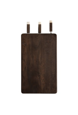 Creative Co-Op Cheese Cutting Board with set of 3 Wood/Marble Cheese Knives