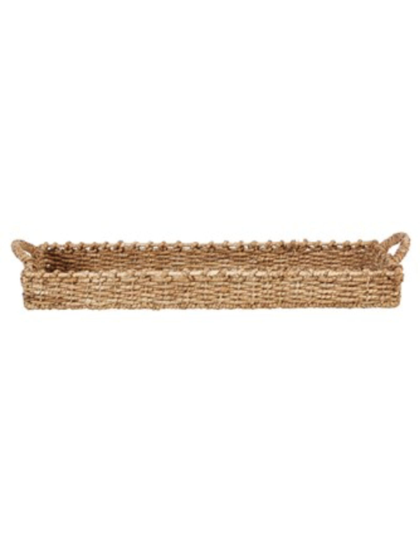 Creative Co-Op Woven Seagrass with Handles Basket