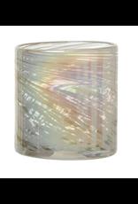 Bloomingville Iridescent White Glass Votive Holder